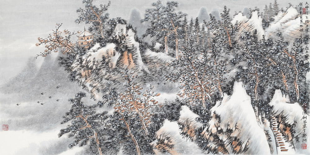 大雪纷飞图
