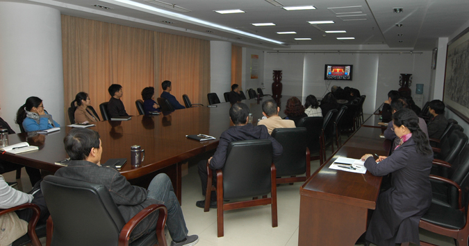 省文联组织收看党的十九大开幕式直播